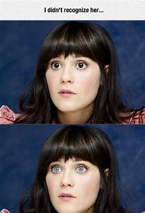 What Jess (Zooey) would look like with Brown eyes : NewGirl