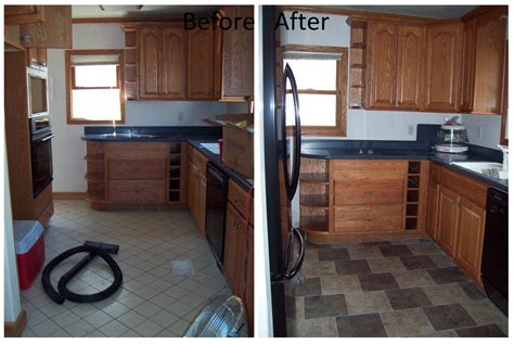 Kitchen Floor Before And After by Tiling Our Wolf Den