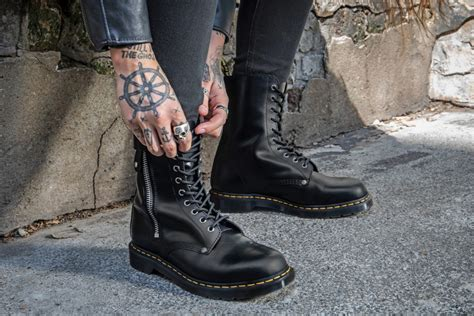 dr martens  schott join forces  boots  magazine