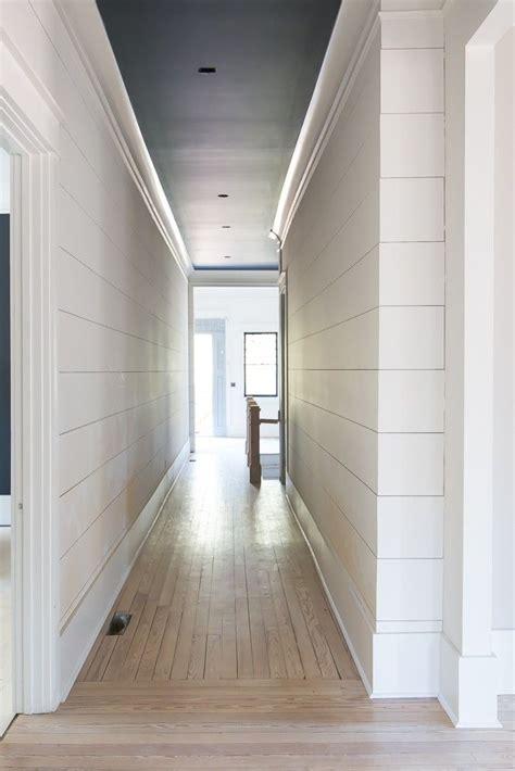 pin  danielle ernst  hall ship lap walls moldings