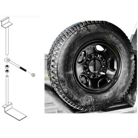 Truck Bed Spare Tire Carrier by Titan Fuel Tanks 9901330000 Spare Tire Buddy In Bed Tire