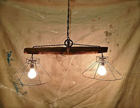 rustic hanging light fixture     plowing