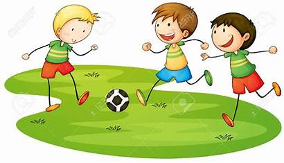 Playing Clipart Boy Cartoon Children Outside Play