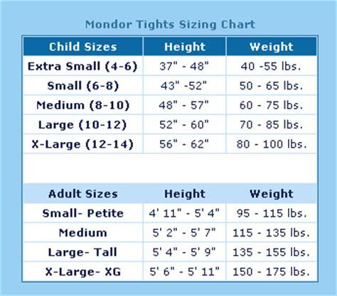 buy figure skating mondor tights sizing chart