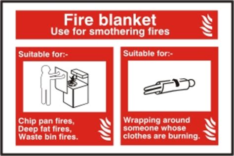 fire blanket sign fire health safety sign ssd