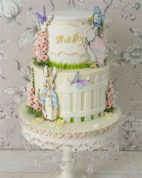 beautiful peter rabbit baby shower cake peter rabbit