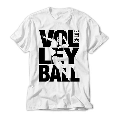 Personalised Kids Volley Ball Tshirt Large Black Letters