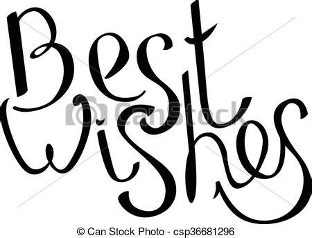 best wishes phrase phrase best wishes isolated on white black and white