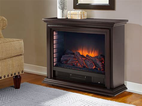 Sheridan Infrared Rolling Electric Fireplace Espresso