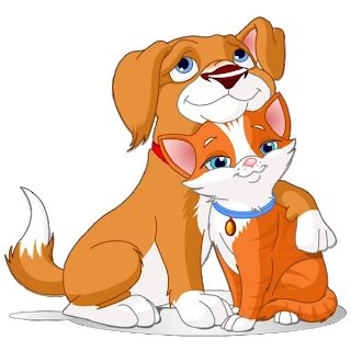 cat  dog clip art cartoon picture images