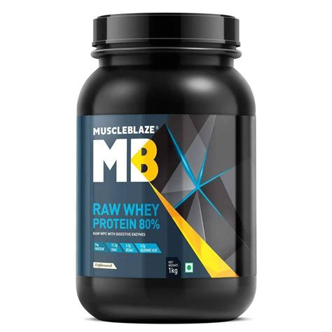 MuscleBlaze Raw Whey Protein - 2.2 lb/ 1 kg @ Rs. 1397 [30 ...