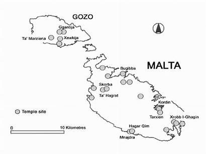 Maltese Islands Location Temple Referred Known Diagram