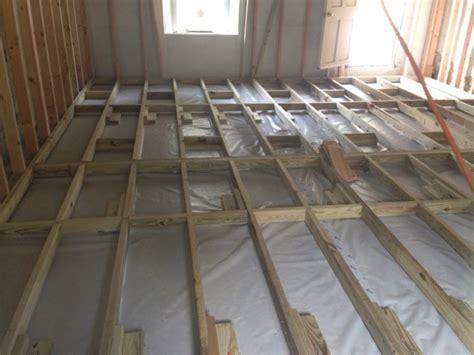 shed wood floor joists  concrete slab