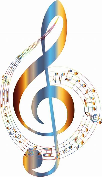 Notes Musical Background Transparent Clipart Clef Note