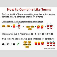 Combining Like Terms  Passy's World Of Mathematics
