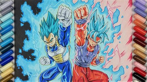 drawing vegeta ssj blue max power goku ssj blue kaioken