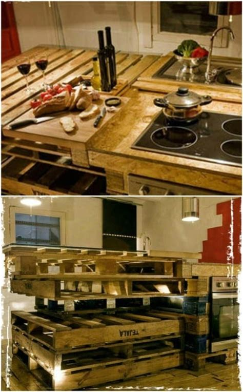 brilliantly rustic diy pallet kitchen furniture ideas