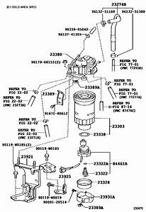 Fuel Filter For 2007   Corolla Ade150
