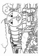 Thomas Coloring Pages Train Printable Cartoon Momjunction Colouring sketch template