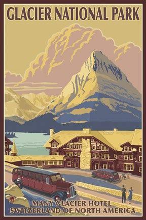 glacier national park ad fine art print  lantern press