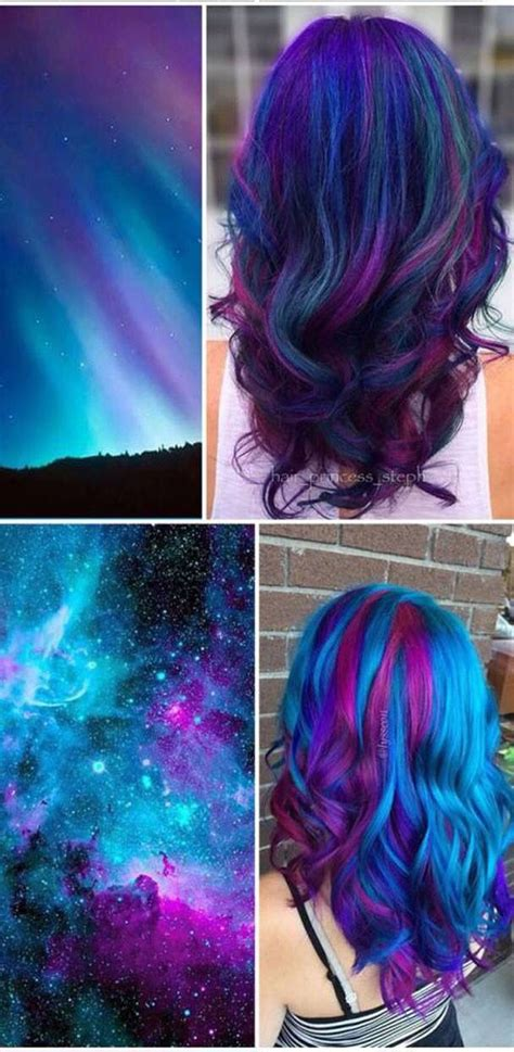 Cool Colors To Dye Hair by Best 25 Galaxy Hair Ideas On
