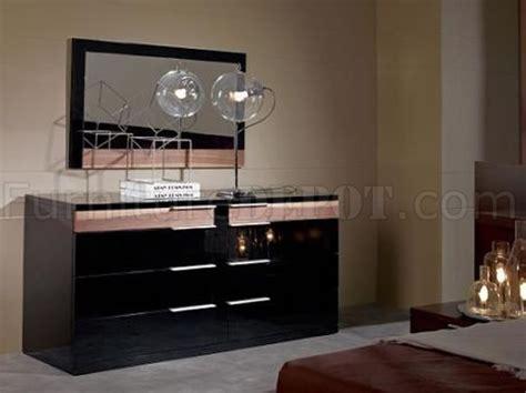 lacquer finish contemporary bedroom set aron black