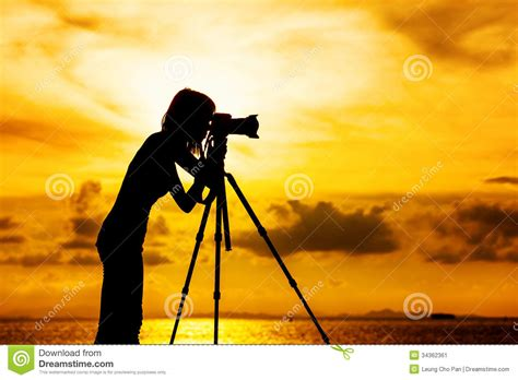 12238 photographer tripod silhouette silhouette photographer stock image image 34362361
