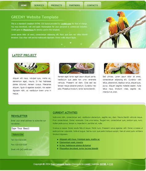 Div Templates Div Css Pets Website Templates Millions