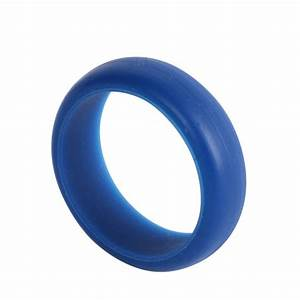 Silicone wedding band rings men women rubber flexible for Womens rubber wedding rings