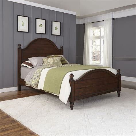 home styles county comfort aged bourbon queen bed frame