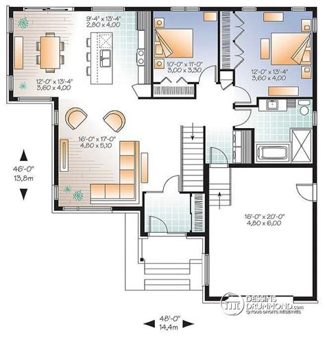 plan de cuisine moderne w3283 modèle contemporain plan de maison moderne grand