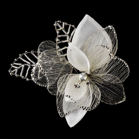 Comb 592 Antique Silver, Wedding Hair Flowers