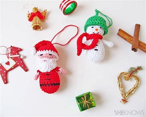 amigurumi santa snowman christmas ornaments