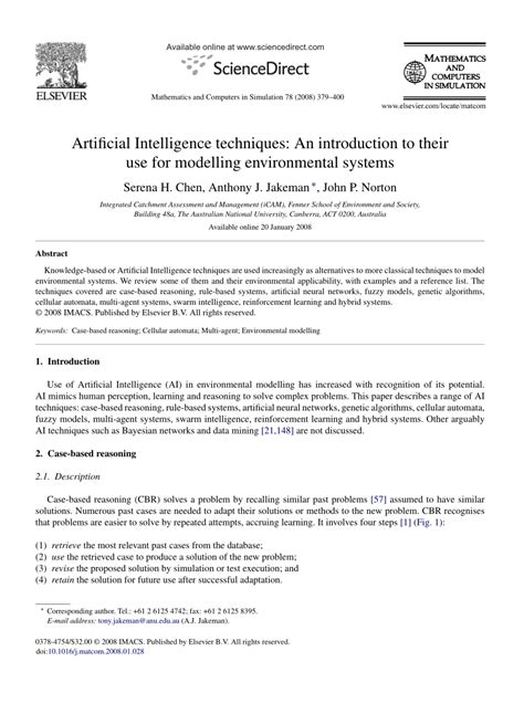 (PDF) Artificial Intelligence techniques: An introduction
