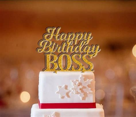 shipping happy birthday boss cake topper goldsilver acrylic cake stand decorating company