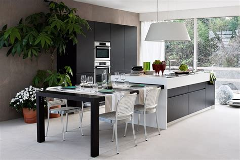 modern kitchen island bench extendable dining table that can be tucked away into the