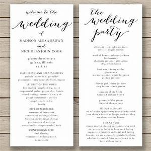this wedding program template is available for instant With wedding invitation templates docx