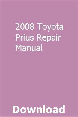 toyota prius repair manual   full