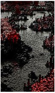 Download wallpaper 1680x1050 volume, pixels, 3d, red ...