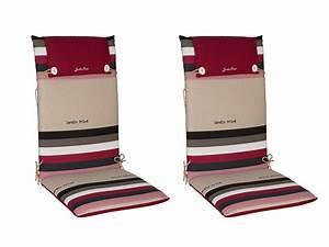 Coussin Fauteuil De Jardin : coussins pour fauteuil de jardin polyester coton 88x41cm ~ Dailycaller-alerts.com Idées de Décoration