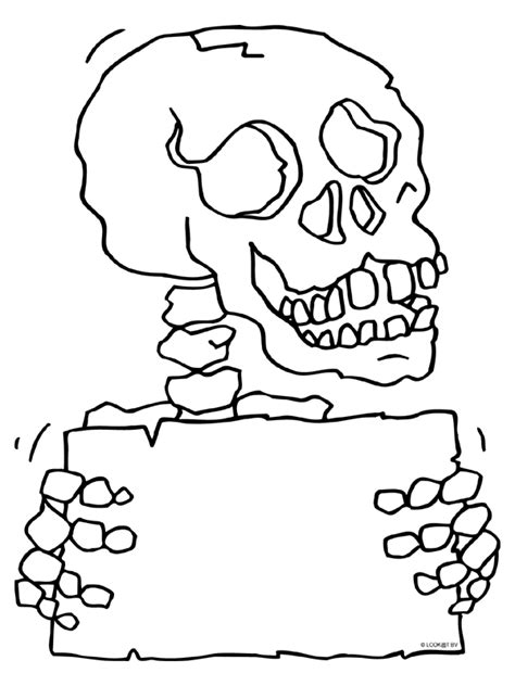 Enge Griezels Kleurplaat by Kleurplaat Griezel Skelet Botten Kleurplaten Nl