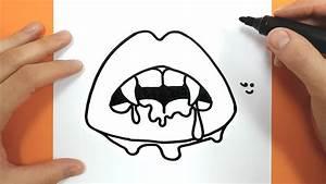 Dessin Facile Halloween : comment dessiner et colorier une bouche de vampire ~ Melissatoandfro.com Idées de Décoration