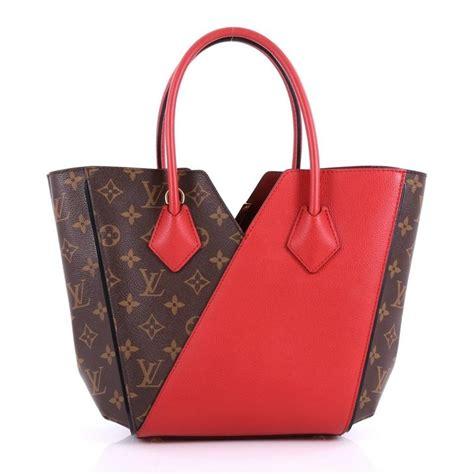 louis vuitton kimono handbag monogram pm brown  red