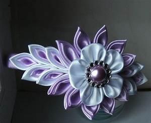 Attache Rideau Pince : serre t te headband kanzashi flower satin ribbon handmade de la boutique bricoartkam sur etsy ~ Melissatoandfro.com Idées de Décoration