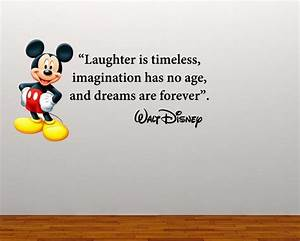 Full Colour Mickey Mouse Large Quote decal wall sticker ...