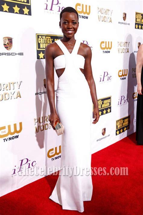 lupita nyongo white prom dress  critics choice