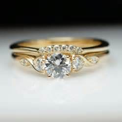 antique style engagement rings vintage antique style engagement ring wedding band set vintage style yellow gold