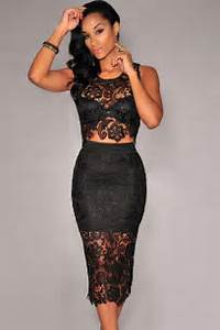 Emma 2 Piece Black Floral Lace Dress