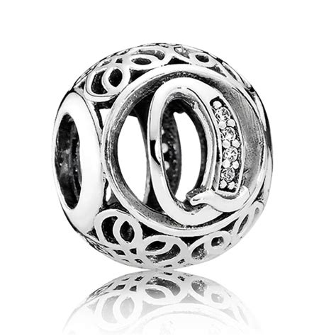 pandora letter charms pandora vintage letter q charm 791861cz from gift and wrap uk 15650
