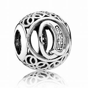 Pandora vintage letter q charm 791861cz from gift and wrap uk for Pandora vintage letter charms
